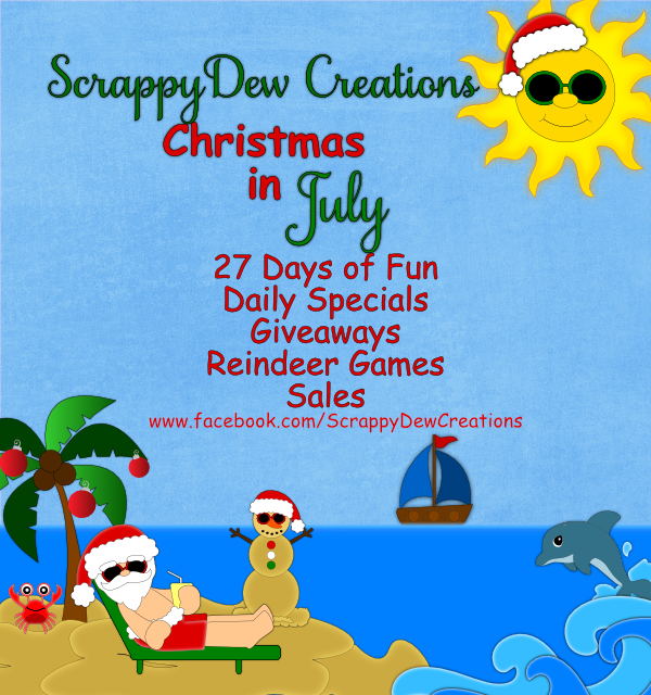 ScrappyDew Creations – Christmas in July